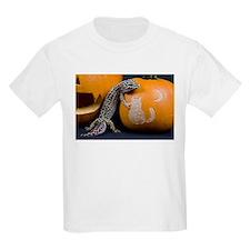Lizard On Pumpkin Kids Light T-Shirt