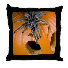 Tarantula on Pumpkin Throw Pillow