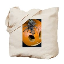 Tarantula on Pumpkin Tote Bag