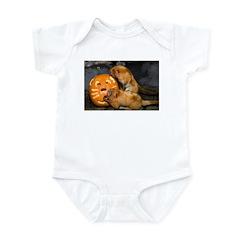 Tamarins Eating Pumpkin Infant Bodysuit