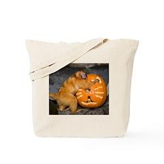 Tamarin With Pumpkin Tote Bag