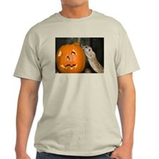 Meerkat On Pumpkin Light T-Shirt