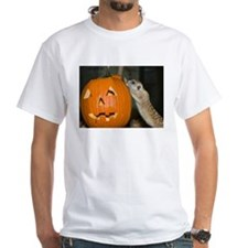 Meerkat On Pumpkin White T-Shirt