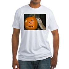 Meerkat On Pumpkin Fitted T-Shirt