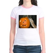Meerkat On Pumpkin Jr. Ringer T-Shirt