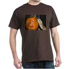 Meerkat On Pumpkin Dark T-Shirt