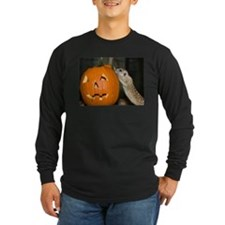 Meerkat On Pumpkin Long Sleeve Dark T-Shirt