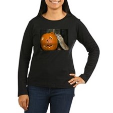 Meerkat On Pumpkin Women's Long Sleeve Dark T-Shir