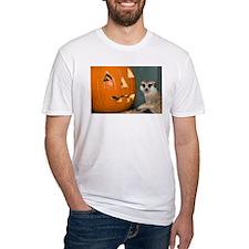 Meerkat Next to Pumpkin Fitted T-Shirt