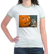 Meerkat Next to Pumpkin Jr. Ringer T-Shirt