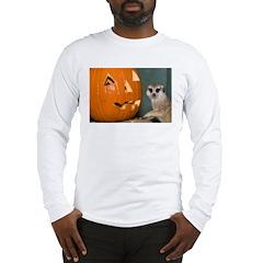 Meerkat Next to Pumpkin Long Sleeve T-Shirt