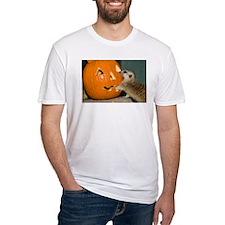 Meerkat Reaching into Pumpkin Fitted T-Shirt