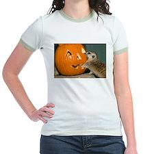 Meerkat Reaching into Pumpkin Jr. Ringer T-Shirt