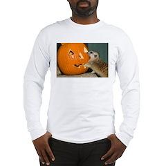 Meerkat Reaching into Pumpkin Long Sleeve T-Shirt