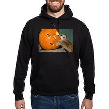 Meerkat Reaching into Pumpkin Hoodie (dark)