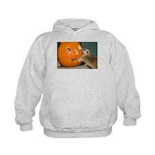 Meerkat Reaching into Pumpkin Kids Hoodie