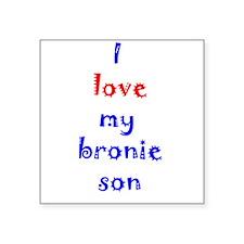 "Bronie Son Square Sticker 3"" x 3"""