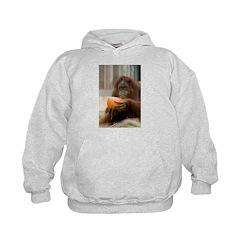 Orangutan Eating Pumpkin Hoodie
