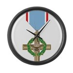USAF Air Force Cross Large Wall Clock