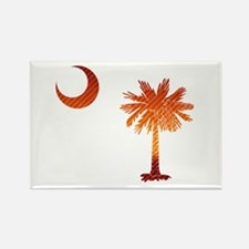 Palmetto & Cresent Moon Rectangle Magnet