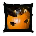 Squirrel in Pumpkin Throw Pillow
