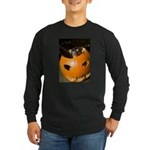 Squirrel in Pumpkin Long Sleeve Dark T-Shirt