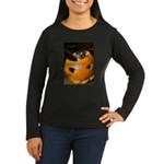 Squirrel in Pumpkin Women's Long Sleeve Dark T-Shi