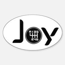 Joy-6sp Black (Clear Pattern, RUL) Sticker (Oval)