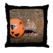 Lesser Tenrec with Pumpkin Throw Pillow