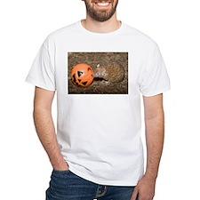 Lesser Tenrec with Pumpkin White T-Shirt