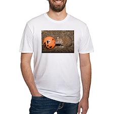 Lesser Tenrec with Pumpkin Fitted T-Shirt