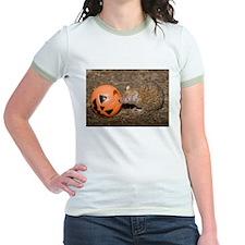 Lesser Tenrec with Pumpkin Jr. Ringer T-Shirt