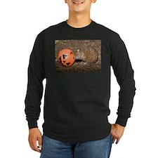 Lesser Tenrec with Pumpkin Long Sleeve Dark T-Shir