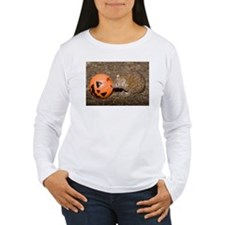Lesser Tenrec with Pumpkin Women's Long Sleeve T-S