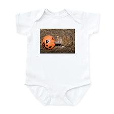 Lesser Tenrec with Pumpkin Infant Bodysuit