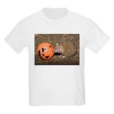 Lesser Tenrec with Pumpkin Kids Light T-Shirt