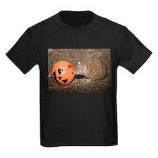 Lesser Tenrec with Pumpkin Kids Dark T-Shirt