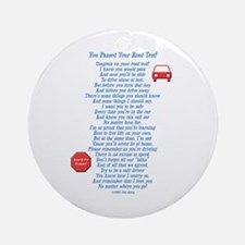 You Passed Road Test Ornament (Round)