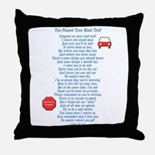 You Passed Road Test Throw Pillow