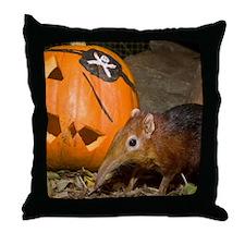 Elephant Shrew With Pumpkin Throw Pillow