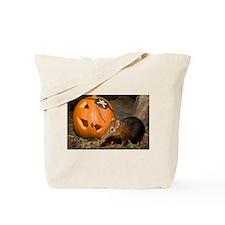 Elephant Shrew With Pumpkin Tote Bag