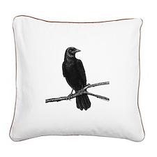 Black Crow ~ Square Canvas Pillow