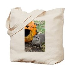 Otter With Pumpkin Tote Bag