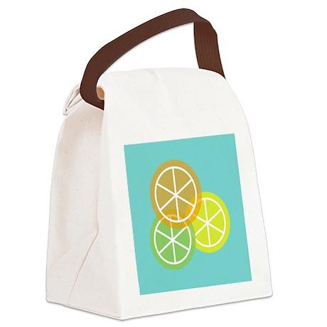 Fruta: Naranja Lima Limon Canvas Lunch Bag