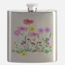 Flower Bunches Flask