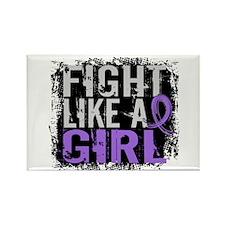 Licensed Fight Like a Girl 31.8 H Rectangle Magnet