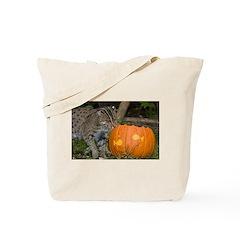 Ocelot With Pumpkin Tote Bag