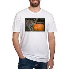 Ocelot With Pumpkin Fitted T-Shirt