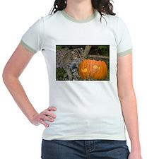 Ocelot With Pumpkin Jr. Ringer T-Shirt