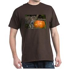 Ocelot With Pumpkin Dark T-Shirt